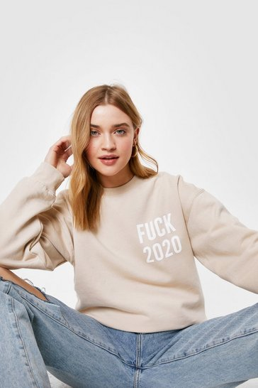 Sand Fuck 2020 Oversized Graphic Sweatshirt