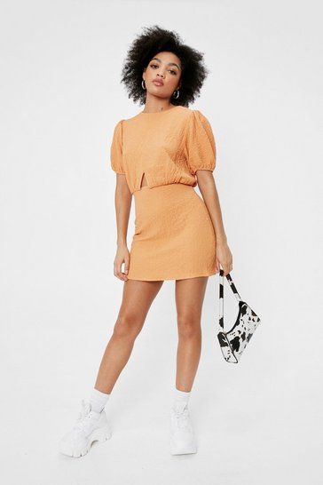 Orange Spell It Cut-Out Petite Mini Dress