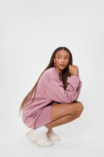 Dusky pink Work It Out Oversized Crew Neck Sweatshirt