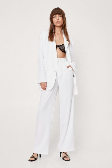 Ivory Bridal High Waisted Tailored Pants
