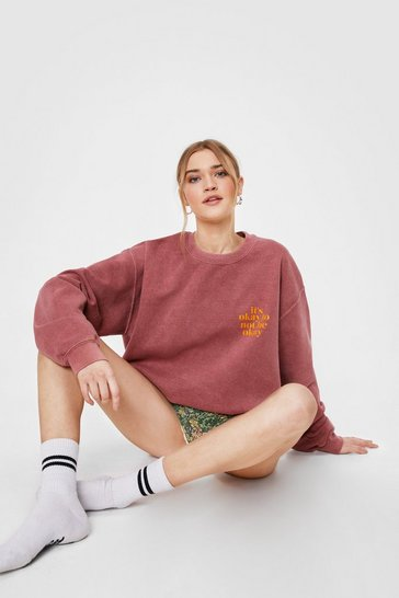 Brick red It's Okay Graphic Sweatshirt