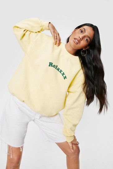 Lemon Relaxxx Washed Oversized Graphic Sweatshirt