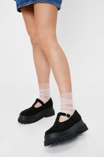 White Spotty Mesh Ankle Socks