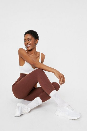 Chocolate High Waisted Stretch Fit Leggings