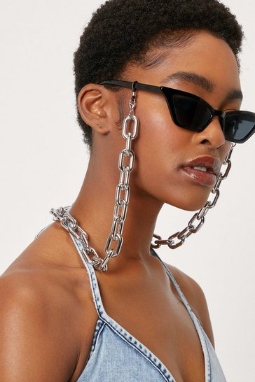 Silver Sunglasses Chunky Link Chain