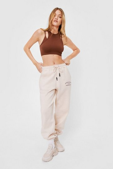 Sand Active Society Oversized Embroidered Graphic Joggers