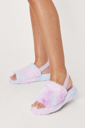 Pink Slipped Our Mind Faux Fur Chunky Slippers