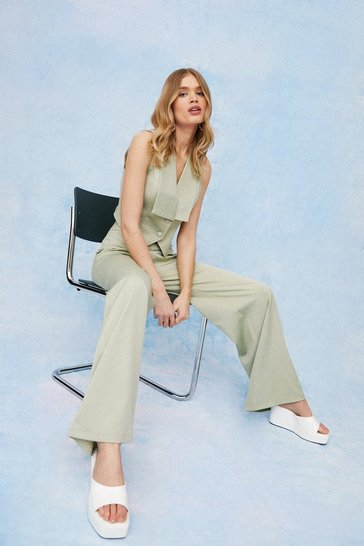 Mint High Waisted Wide Leg Pants
