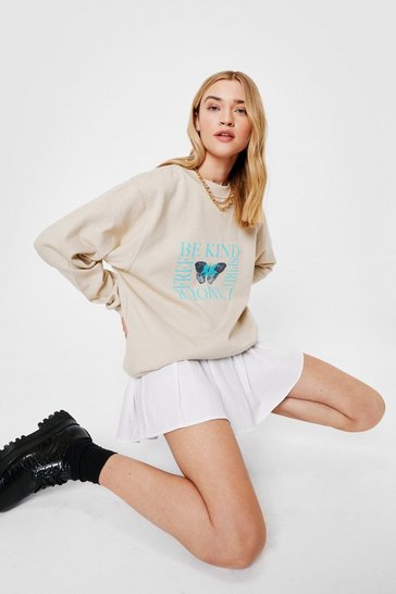Sand Be Kind Butterfly Oversized Graphic Sweatshirt