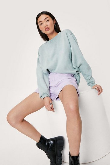Mint Overised Crew Neck Long Sleeve Sweatshirt