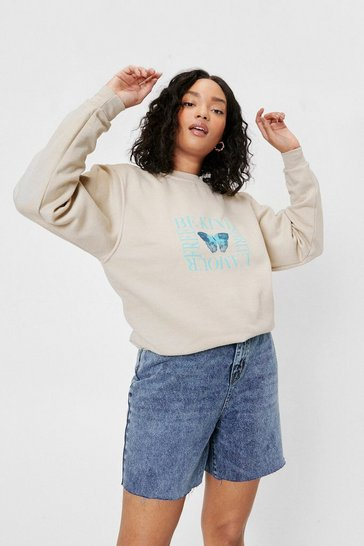 Sand Plus Size Wanderlust Graphic Sweatshirt