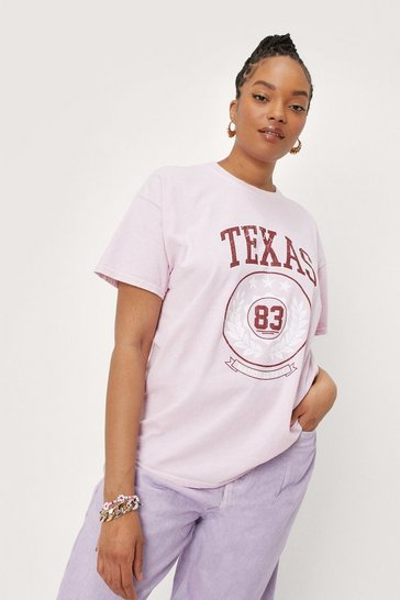 Blush Plus Size Texas Graphic T-Shirt