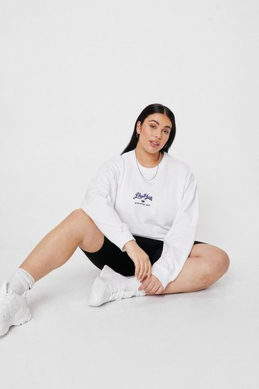 White Plus New York Embroidered Graphic Sweatshirt