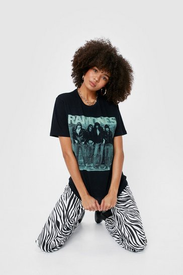 Black Ramones Graphic Band T-Shirt