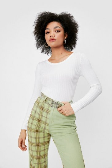 Ivory Rib's Now or Never Petite Crew Neck Top