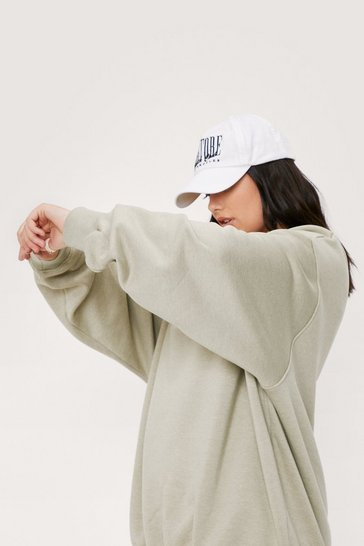 Sage Plus Size Crew Neck Oversized Sweatshirt