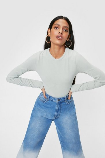 Sage Recycled Seam Detail Long Sleeve Bodysuit