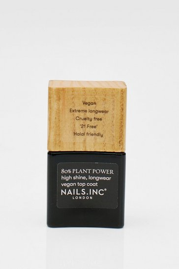 Clear Nails Inc Plant Power Top Coat Vegan Polish