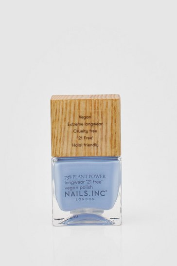 Cornflower blue Nails Inc Plant Power Blue Vegan Nail Polish