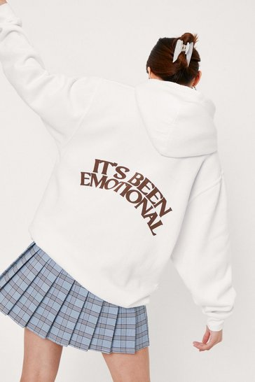 Cream Petite It's Been Emotional Graphic Hoodie