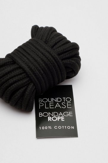 Black Bound To Please Cotton Bondage Rope