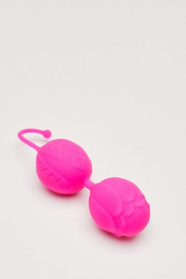 Purple Textured Silicone Pleasure Balls