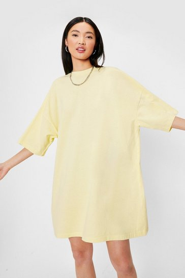 Lemon Oversized Drop Sleeve T-Shirt Dress