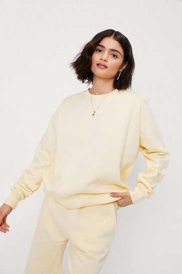 Lemon Crew Neck Slouchy Oversized Sweatshirt