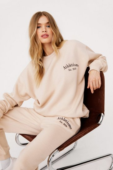 Sand Athletisme Embroidered Oversized Sweatshirt