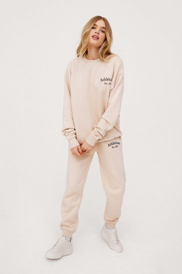 Sand Athletisme Embroidered High Waisted Joggers