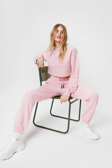 Blush Oversized Adjustable Drawstring Joggers