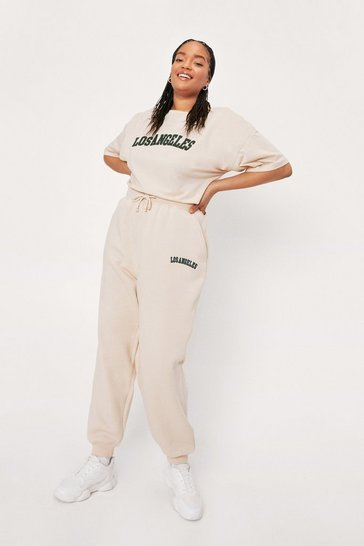 Stone Plus Size Los Angeles Embroidered Sweatpants