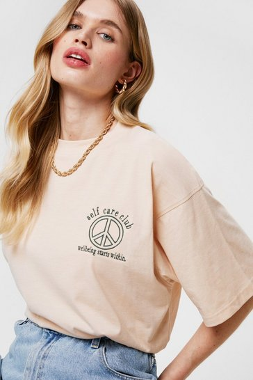 Sand Self Care Club Graphic Crew Neck T-Shirt