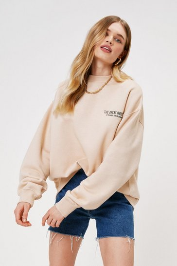Sand The Great Indoors Embroidered Sweatshirt