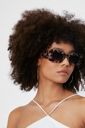Off white Square Frame Tortoiseshell Sunglasses