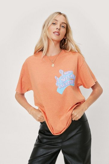 Orange Strong Woman T-shirt