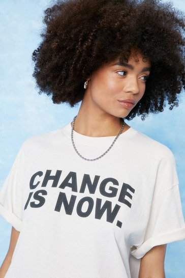 Sand Change is Now Oversized Graphic T-Shirt