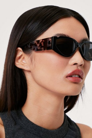 Black Tortoiseshell Thick Arm Sunglasses