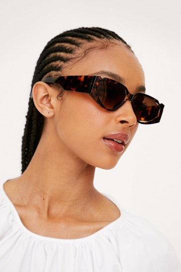 Brown Tort Thick Arm Sunglasses