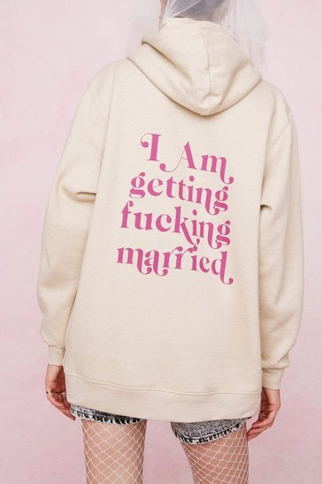 Sand Bridal Getting Fucking Married Graphic Hoodie