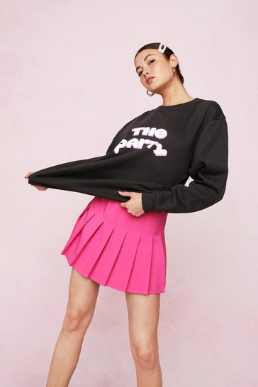 Charcoal Bridal The Party Oversized Graphic Sweatshirt