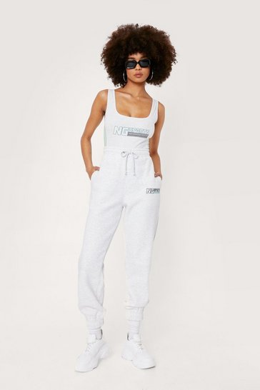 Oatmeal NG Sport High Waisted Graphic Joggers