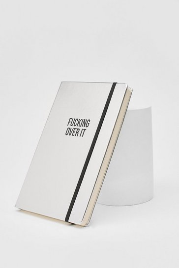 Silver Fucking Over It Notebook