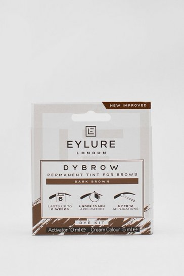 Dark brown Eyelure Brown Permenant Eyebrow Tint Kit