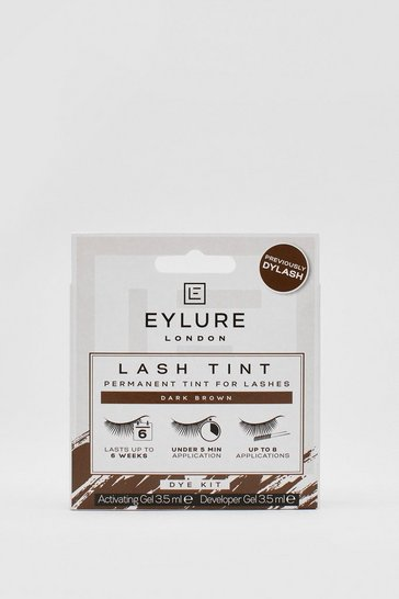 Dark brown Eylure Brown Lash Tint Kit