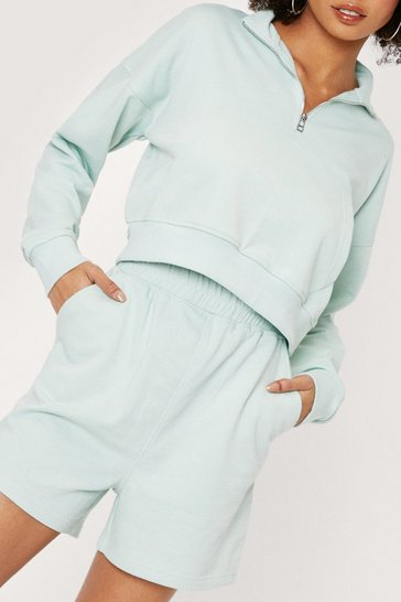 Mint Funnel Neck Sweatshirt and Joggers Set