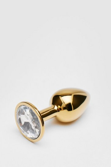 Gold Small Jewel Round Butt Plug