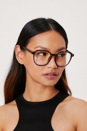 Brown Round Tortoiseshell Blue Light Glasses