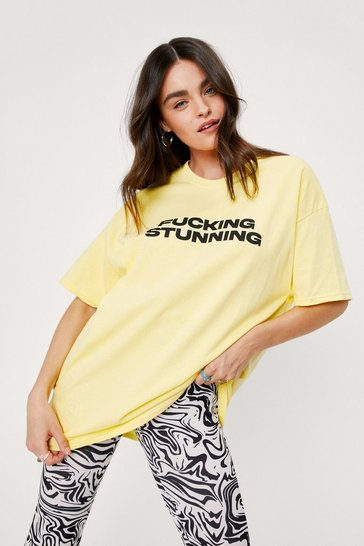 Lemon Fucking Stunning Oversized Graphic T-Shirt