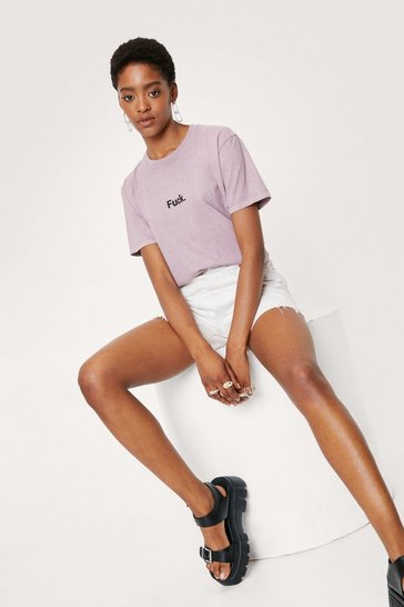 Purple Fuck Short Sleeve Relaxed Graphic T-Shirt
